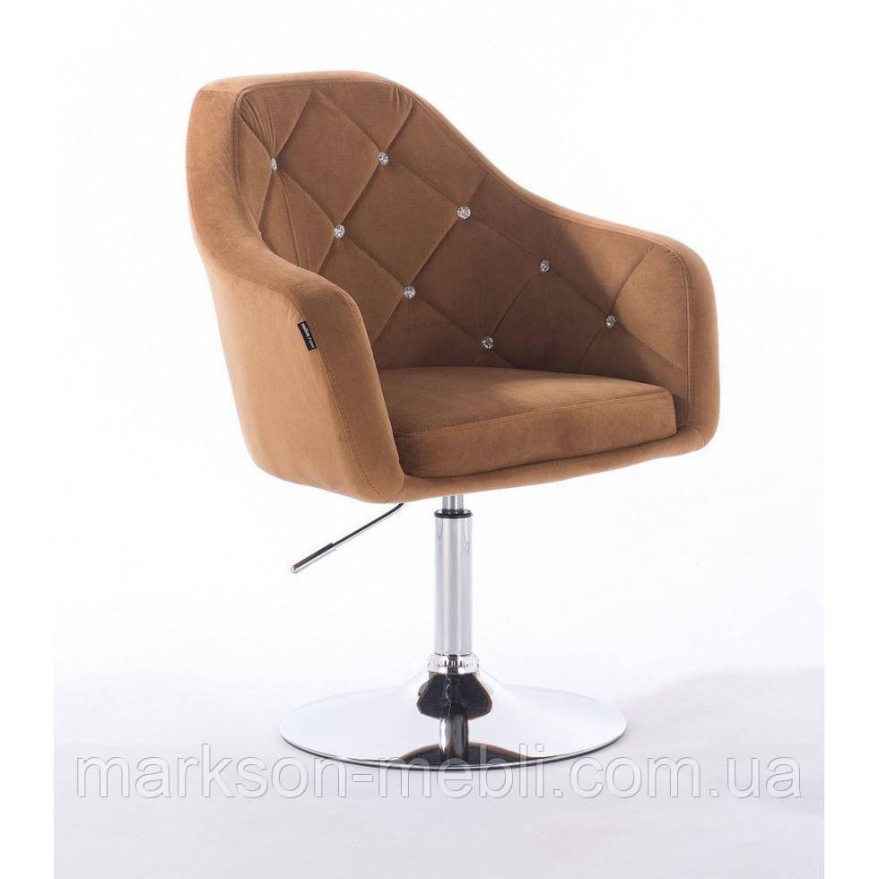 Перукарське крісло HROVE FORM HR830 медовий велюр
