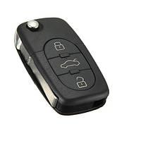 Выкидной ключ Audi (3 кнопки с жалом и логотипом)