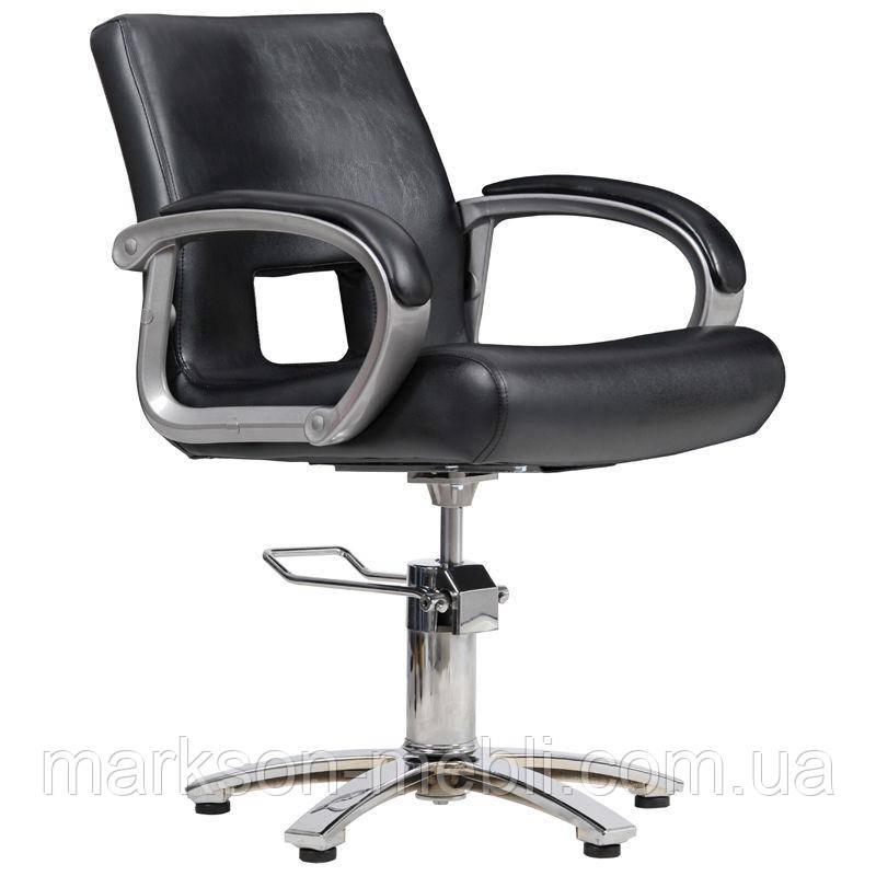 Парикмахерское кресло Milano черное