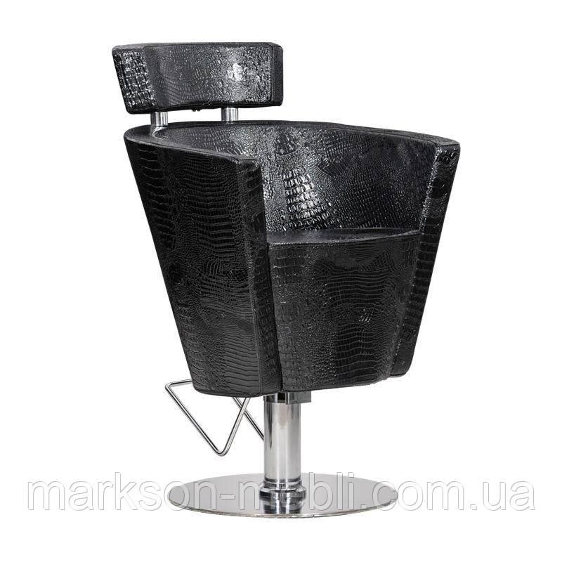 Парикмахерское кресло Prima черный крокодил