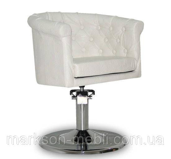 Парикмахерское кресло Rimini белое