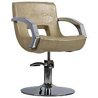 Парикмахерское кресло Roma золотой крокодил, фото 1