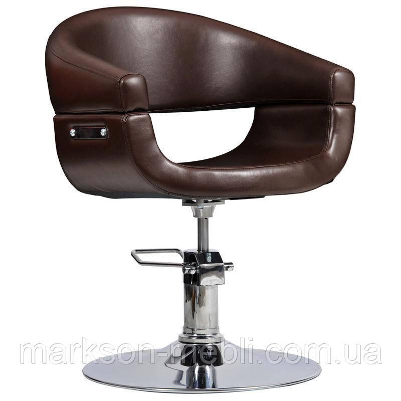 Парикмахерское кресло Toscania коричневое