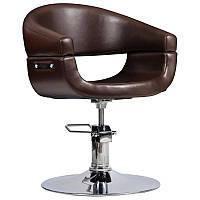 Парикмахерское кресло Toscania коричневое, фото 1