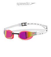 Зеркальные очки для плавания премиум класса Speedo Fastskin 3 Elite (White Red), фото 1