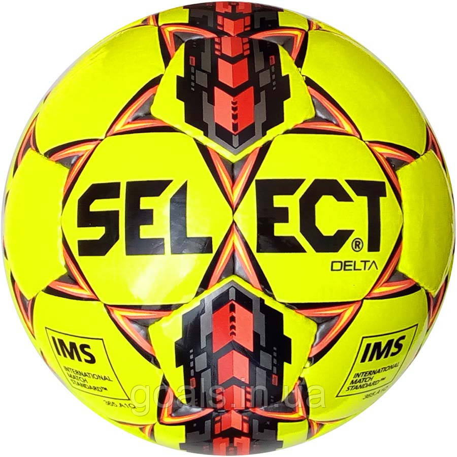 Мяч футбольный SELECT DELTA IMS (215) желт/черн р.4