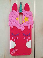 Объемный 3D силиконовый чехол My Little Pony для Huawei Mate 10 Lite Красный единорог