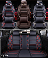 Модельные чехлы BNEPIN на передние и задние сиденья автомобиля Skoda SuperB + подушки