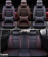 Модельные чехлы BNEPIN на передние и задние сиденья автомобиля Audi A4 + подушки