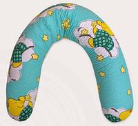 """Подушка """"Банан"""" 2в1 : беременность+кормление (полистироловые шарики), фото 1"""