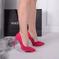 Женские туфли лодочки малиновые 11 см, фото 1