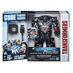 Интерактивный трансформер Оптимус Прайм 15СМ - Optimus Prime Allspark Tech, Shadow Spark, Starter Pack, Hasbro