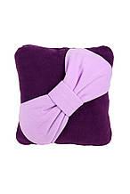 Подушка декоративна Бант фіолетова