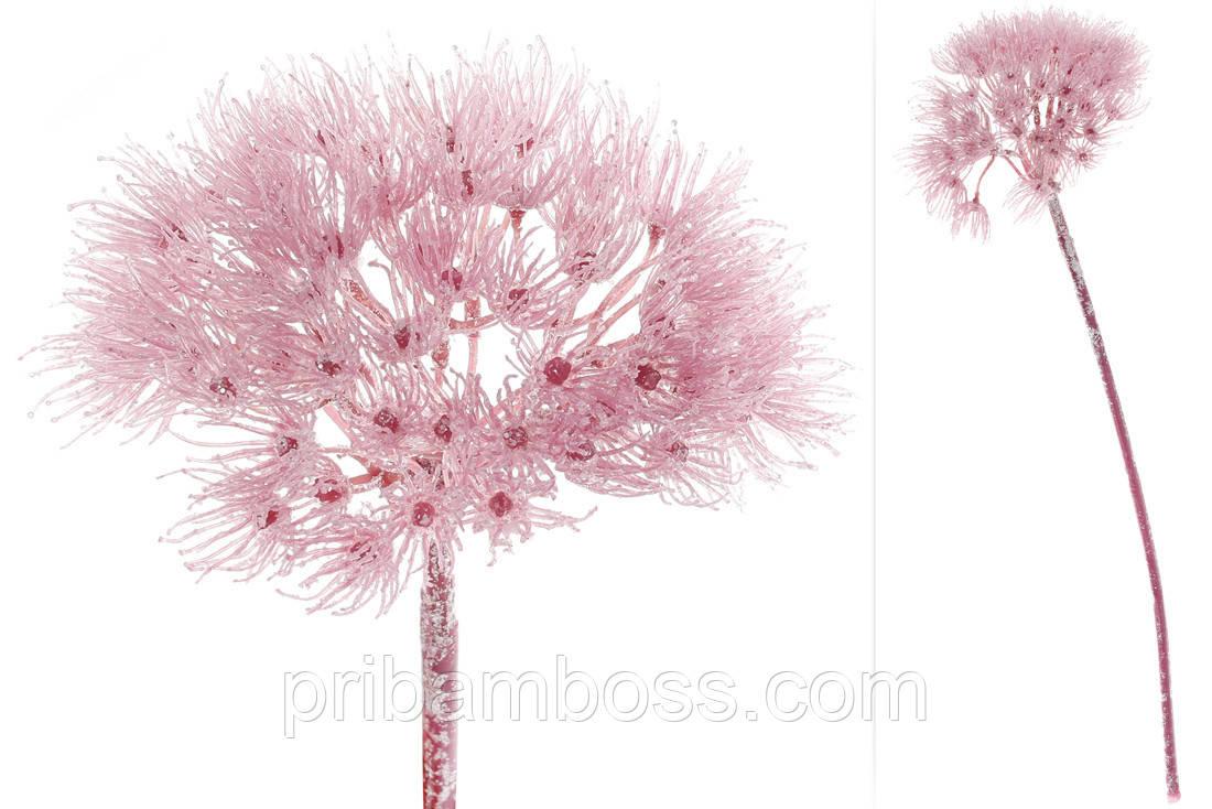 Декоративный цветок Розовый Фенхель, 65см