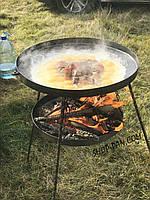 Сковорода из диска + подставка для разведения огня (садж)