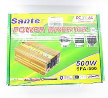 Инвертор c 12V в 220V Santer SFA-500W + USB