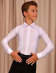 """Рубашка-комбидресс для танцев """"Ювенал"""" на молнии с декоративными защипами"""