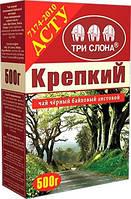 """Чай """"ТРИ СЛОНА"""" Чорний Міцний ДСТУ лист 500г картон (1/11)"""