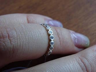 Стильное серебряное кольцо