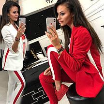 Женский костюм двойка пиджак и брюки с лампасами sh-016 (42-52р, разные цвета), фото 3