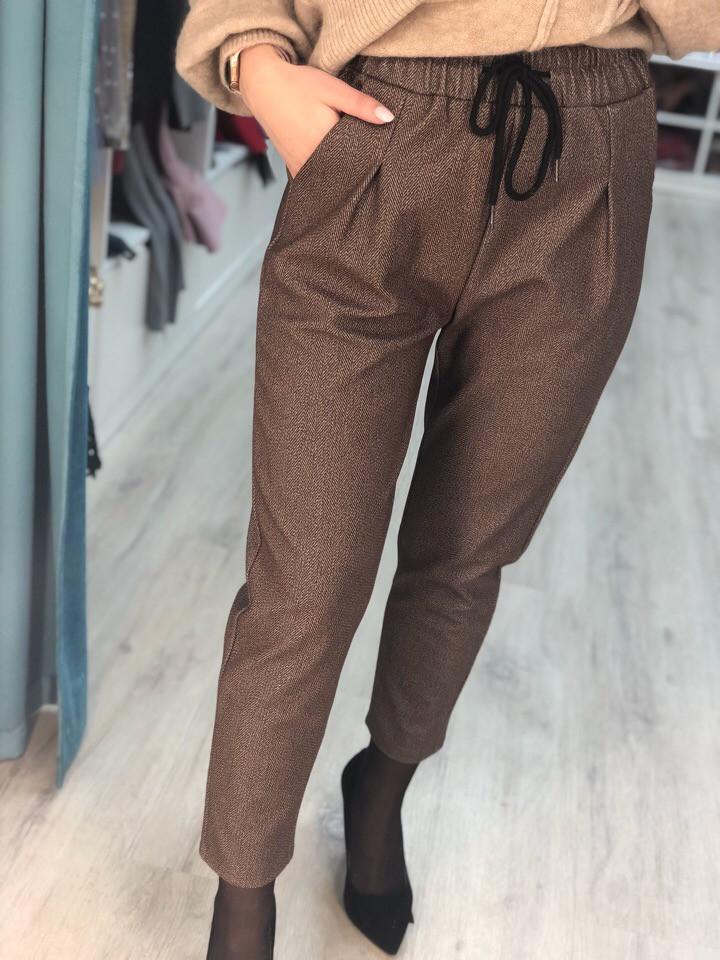 Женские укорочённые штаны с карманами