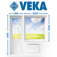Балконний блок із німецького профілю VEKA, Ромни, фото 1