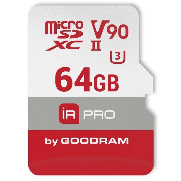 Карта памяти GoodRam microSDXC 64GB UHS-II U3 V90 IRDM PRO (IRP-M9BA-0640R11)