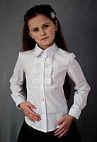 Белая блуза с декором по полочке 122, Белый