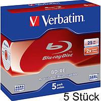 Диск Verbatim BD-RE 2x 25GB Blu-ray 5pk перезаписываемый компакт-диск