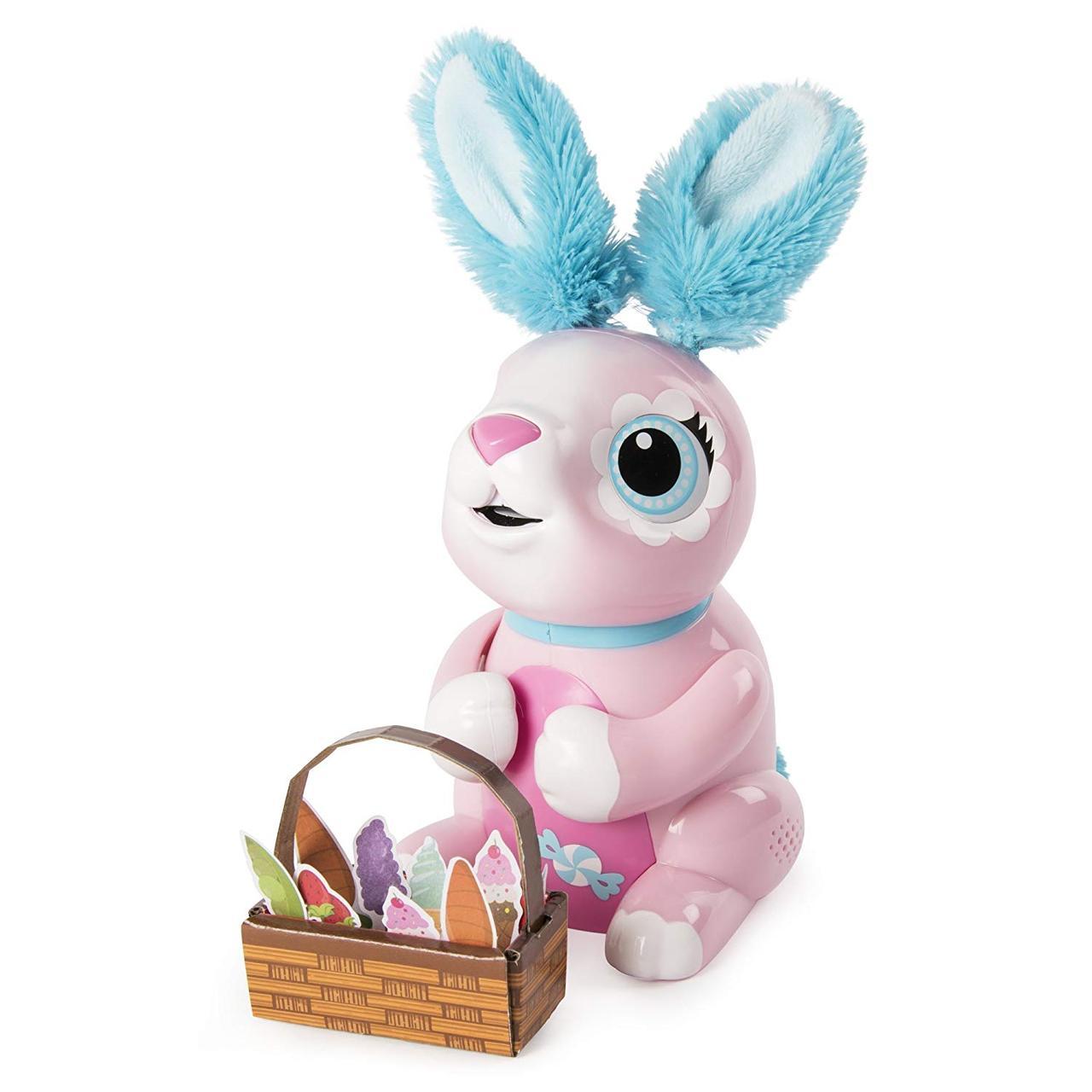 Интерактивный кролик Хрумчик Zoomer Hungry Bunnies Shreddy Interactive Robotic Rabbit That Eats Spin Master