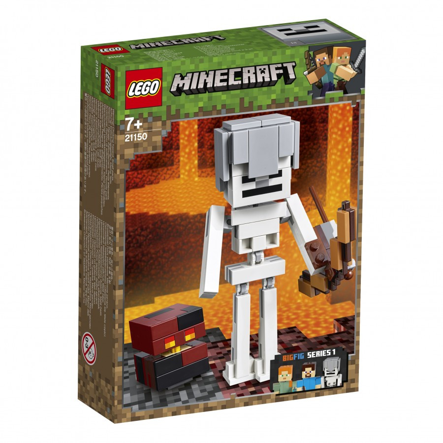 Lego Minecraft Скелет с кубом магмы 21150