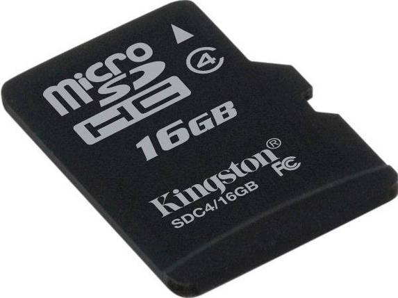 Карта памяти Kingston 16Gb microSDHC class 4 (SDC4/16GBSP), фото 2