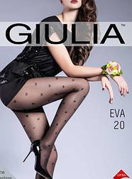 Жіночі колготки з візерунком сердечка Gulia