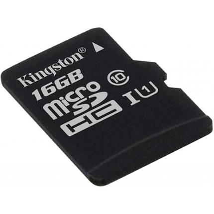Карта памяти Kingston microSDHC 16GB Canvas Select Class 10 UHS-I U1 (SDCS/16GBSP), фото 2
