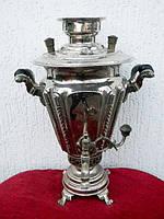 Самовар рюмка Баташова никелированная 3,5 лит