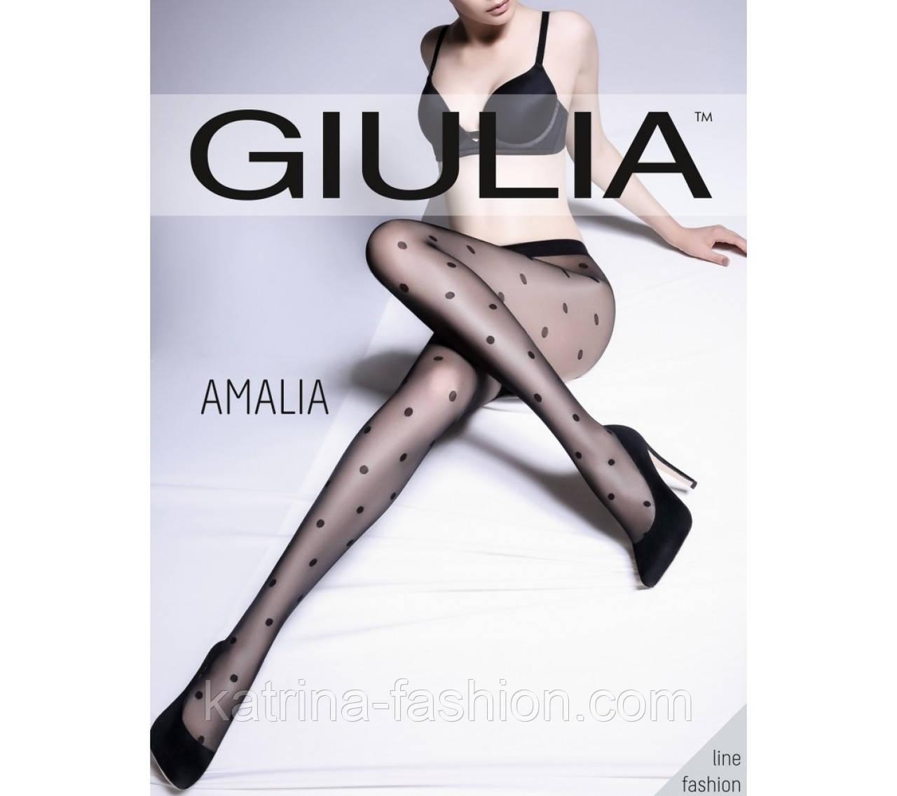 Женские колготы в крупный горошек Gulia