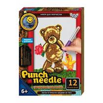 Вышивка Punch needle. Мишка с утенком PN-01-01 Danko-Toys