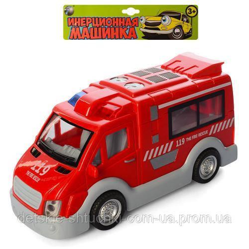 Пожарная машина T584-D6144/ST66-05.инер-я, 17см, звук, свет,бат(табл), в кульке