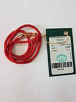 Красная нить с золотой застежкой 585 пробы.