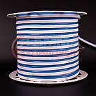 Светодиодный неон 220В синий AVT smd 2835-120 лед/м 7Вт/м, герметичный, бухты по 50 метров, фото 2