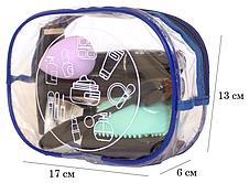 Прозрачная косметичка для бассейна/сауны/путешествий (синий), фото 2