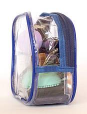 Прозрачная косметичка для бассейна/сауны/путешествий (синий), фото 3