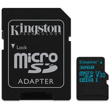 Карта памяти Kingston microSDHC 32GB Canvas Go! Class 10 UHS-I U3 + SD-адаптер (SDCG2/32GB), фото 2
