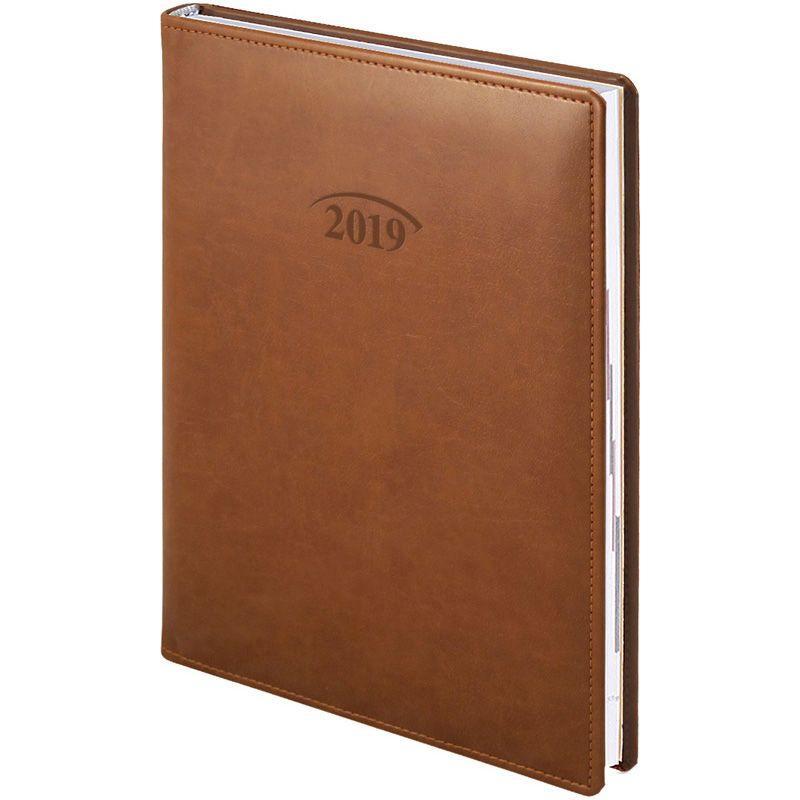 Ежедневник датированный 2019 BRUNNEN Soft Стандарт 7953670 коричневый
