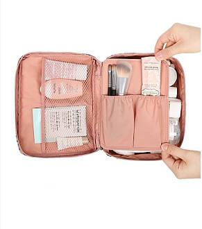 Дорожная косметичка с отстегивающимся кармашком Monopoly Travel (Pink Leo) реплика, фото 3