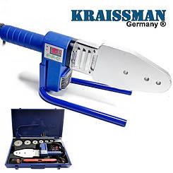Паяльник пластиковых труб KRAISSMANN 1500 EMS 6 (с индикатором температуры)