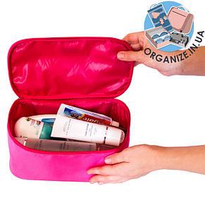 Прямоугольный органайзер для косметики ORGANIZE (розовый), фото 2
