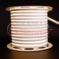 Светодиодный неон 220В белый теплый AVT smd 2835-120 лед/м 7Вт/м, герметичный. Бухта 50 метров.