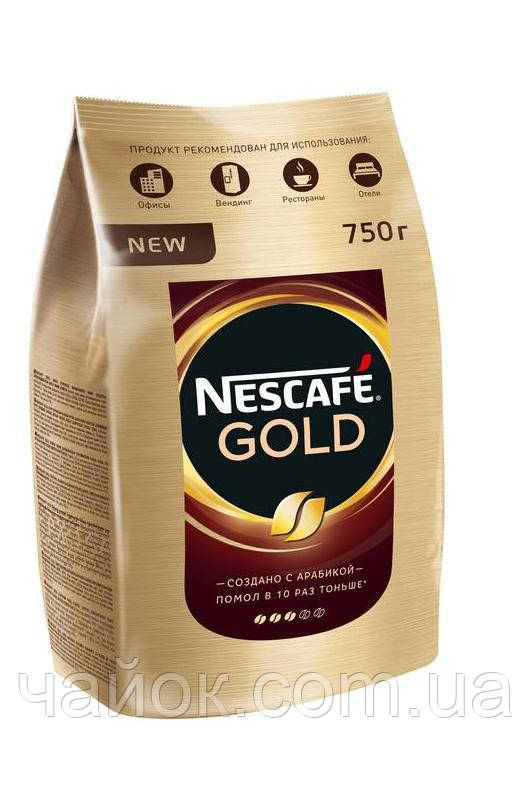 Кофе растворимый Nescafe Gold 750 гр
