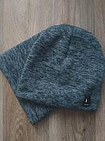 Спортивная шапка темно серая Classic + горловик (бафф), фото 1